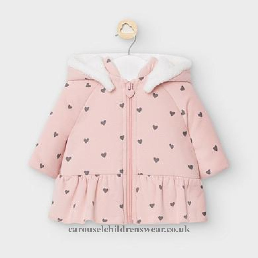 Mayoral 2461 Faux Fur Lined Jacket For Baby Gilrs Clothing
