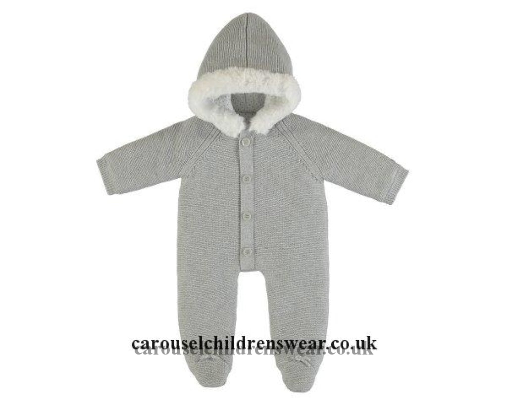 Mayoral 2631 016 Grey Knitted All In One Snowsuit Clothing