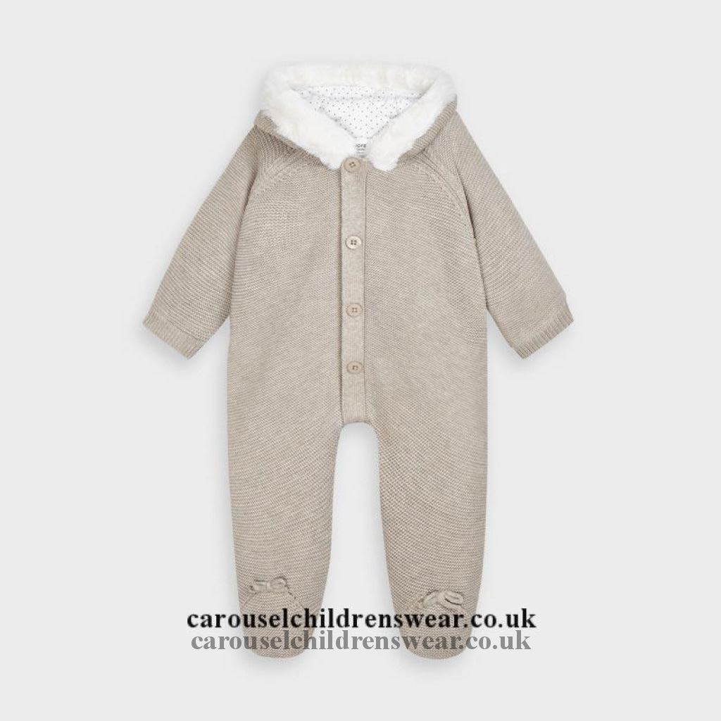 Mayoral 2631 019 Beige Knitted All In One Snowsuit Clothing