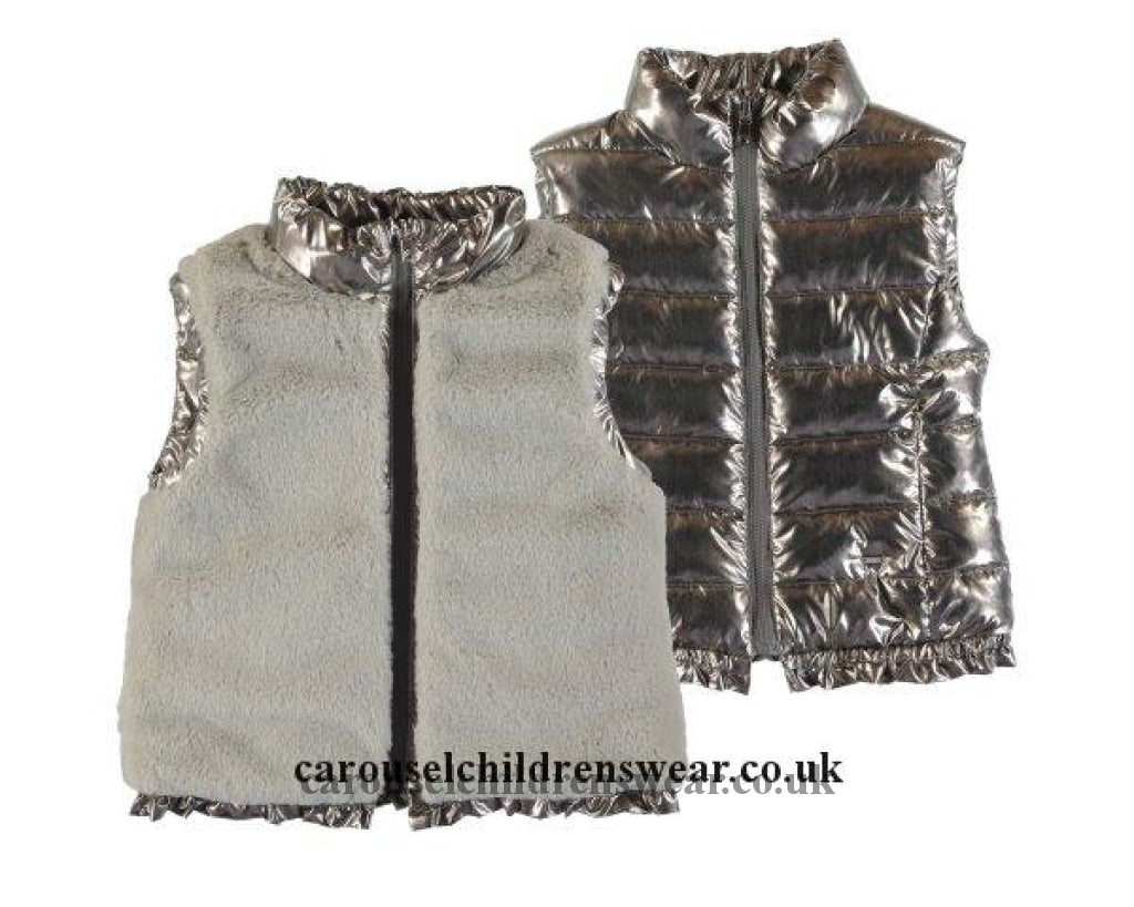 Mayoral 4352 044 Gold Reversible Gilet Clothing