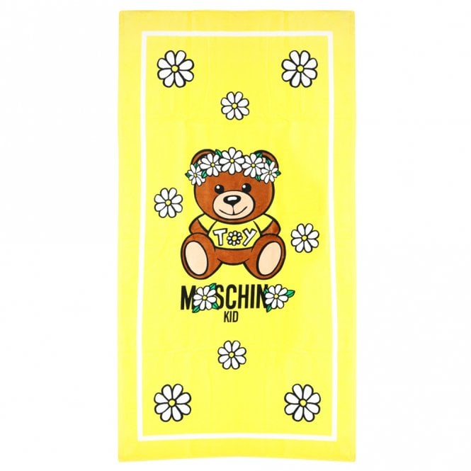 Moschino YELLOW TEDDY LOGO TOWEL