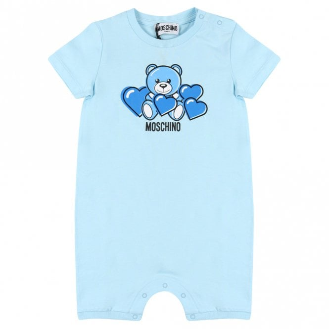 Moschino BLUE ROMPER WITH GIFT BOX