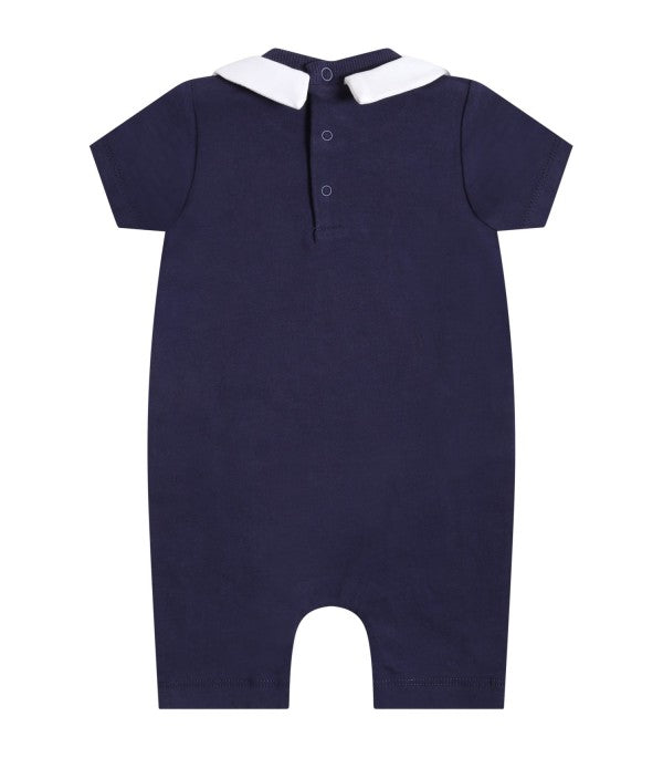 Moschino NAVY BLUE ROMPER WITH GIFT BOX