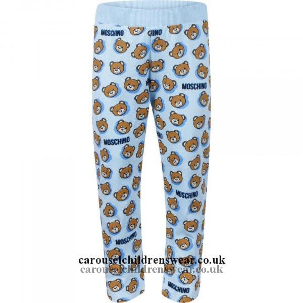 Moschino Mnp02R Lbb26 Sky Blue Toy Legging Clothing