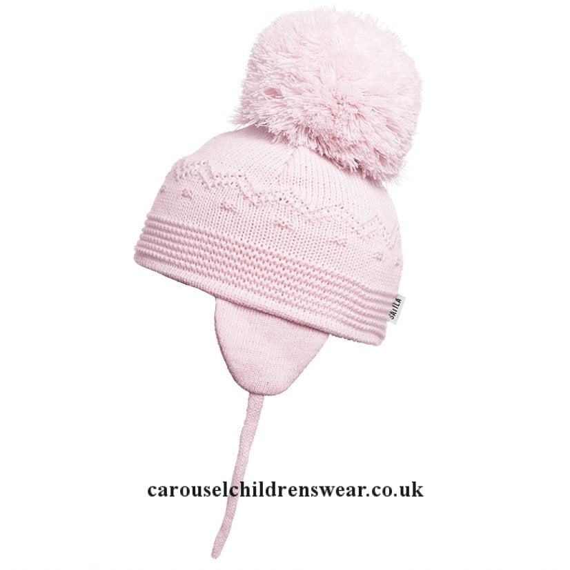 SATILA BELLE PALE PINK POM POM HAT
