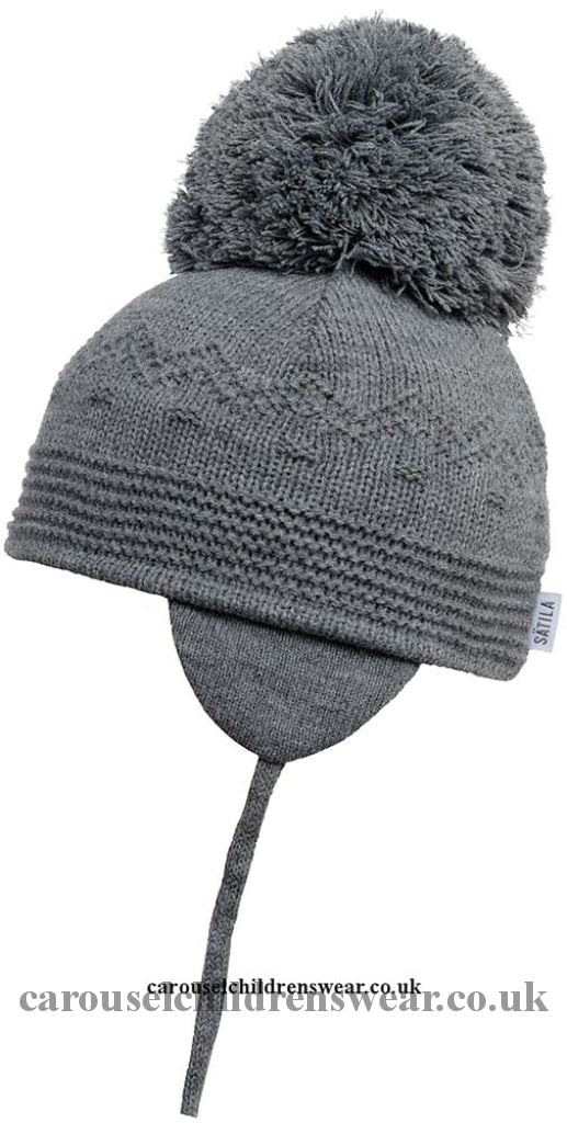 Satila Belle Grey Pom Hat Accessories