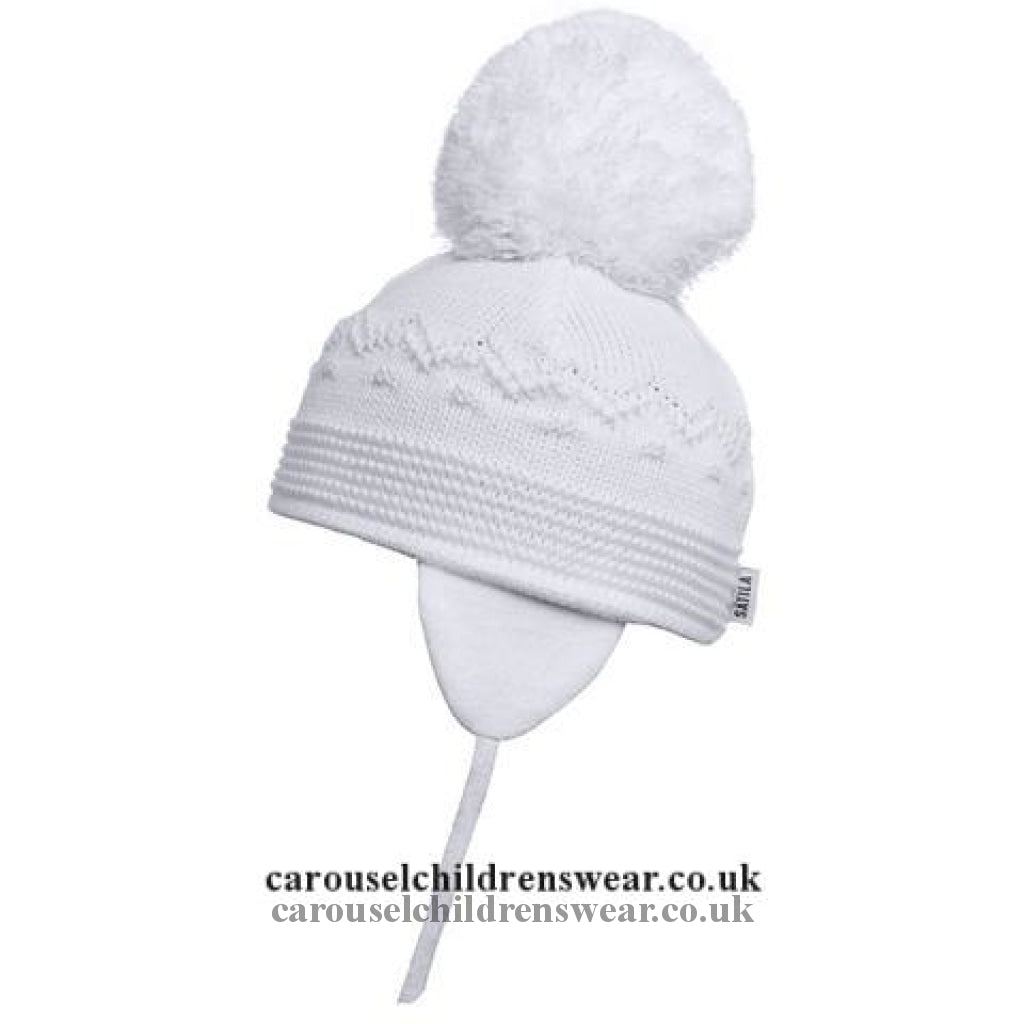 Satila Belle White Pom Hat Accessories