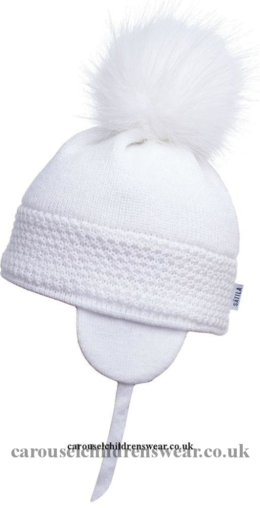 Satila Daisy White Pom Hat Accessories