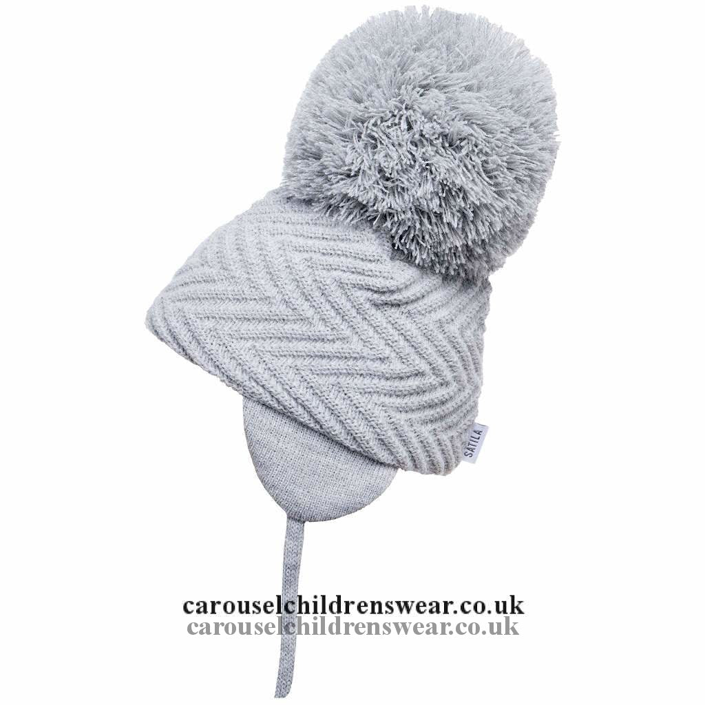 Satila Jackie Grey Pom Hat Accessories