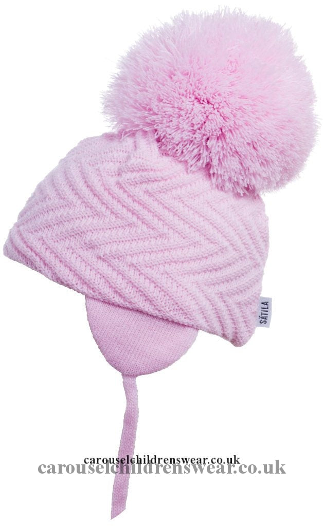 Satila Jackie Pale Pink Pom Hat Accessories