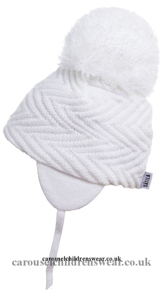 Satila Jackie White Pom Hat Accessories