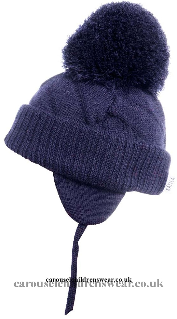 Satila Jim Navy Blue Pom Hat Accessories