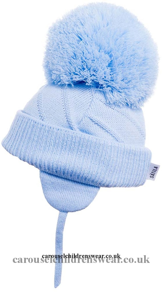 Satila Jim Pale Blue Pom Hat Accessories