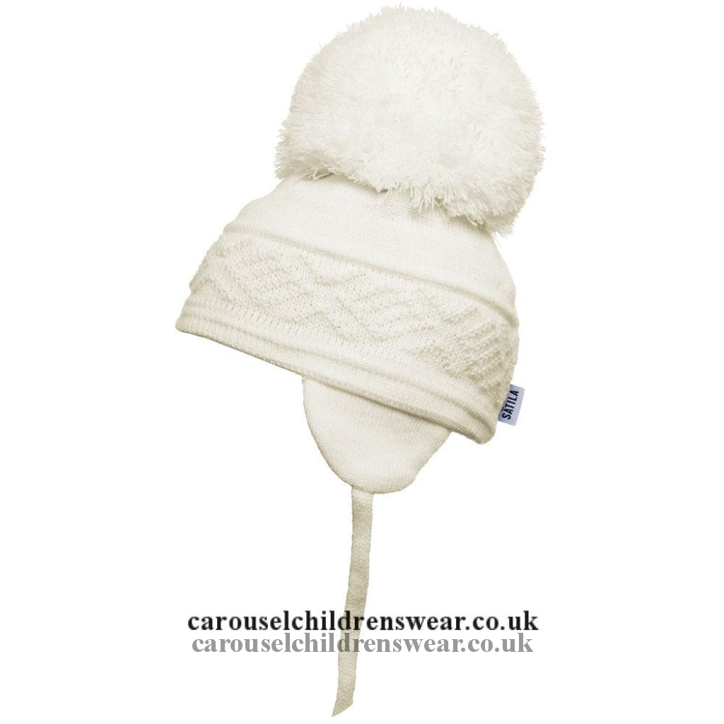 Satila Malva Cream Pom Hat Accessories