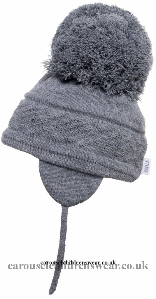 Satila Malva Dark Grey Pom Hat Accessories