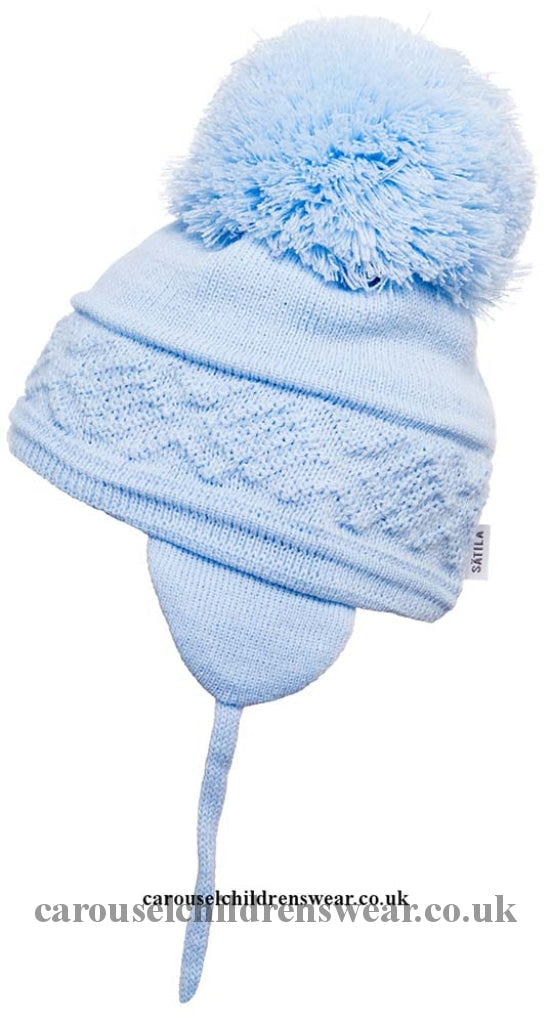 Satila Malva Pale Blue Pom Hat Accessories