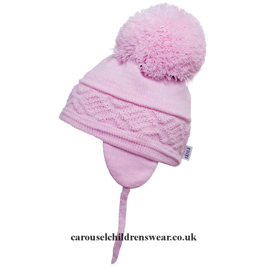 Satila Malva Pale Pink Pom Hat Accessories