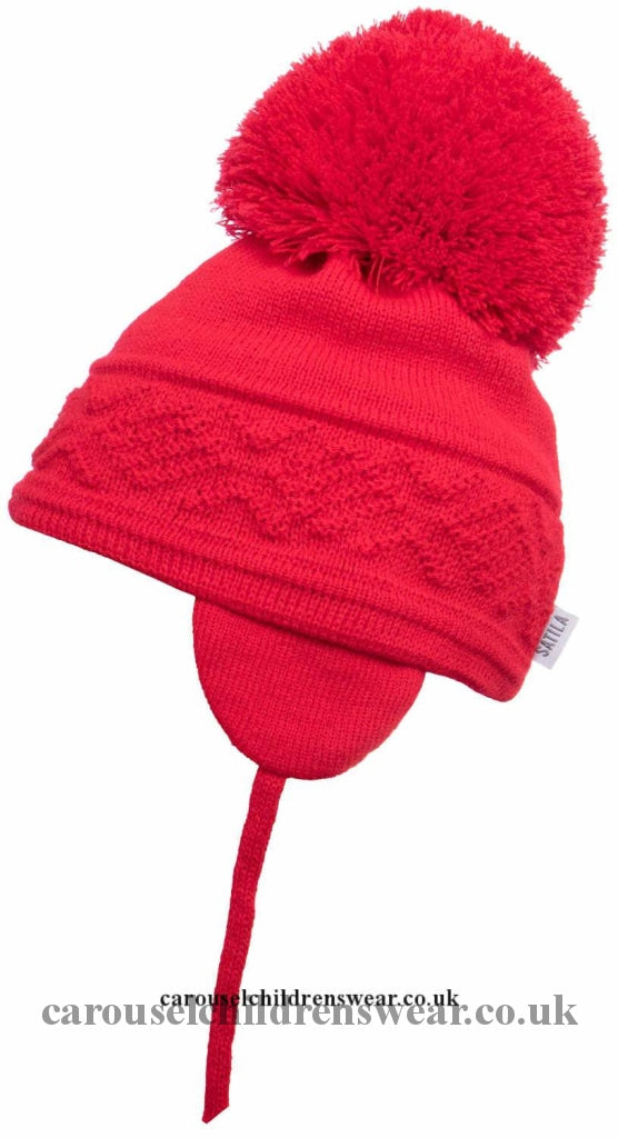 Satila Malva Red Pom Hat Accessories