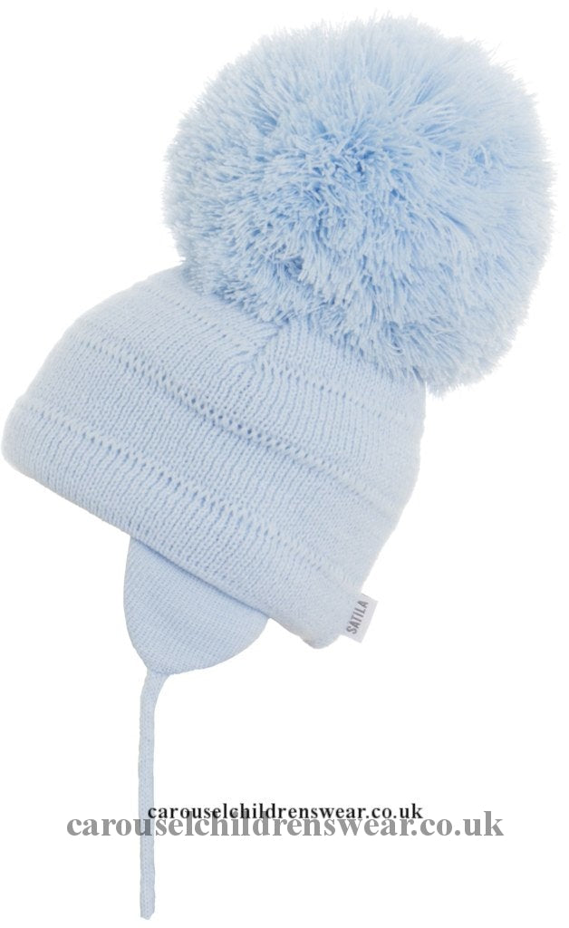 Satila Tuva Pale Blue Pom Hat Accessories