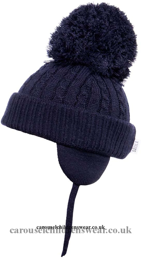 Satila Twine Navy Blue Pom Hat Accessories