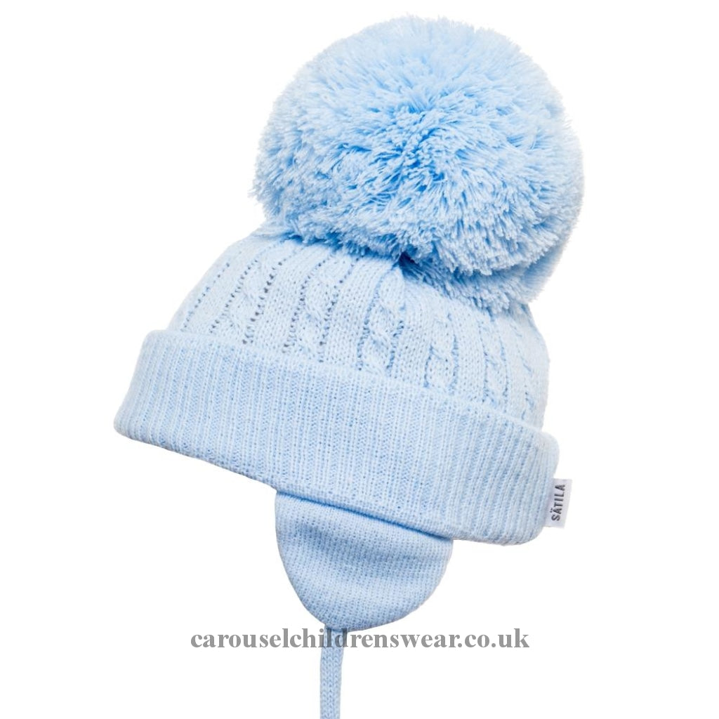 Satila Twine Pale Blue Pom Hat Accessories