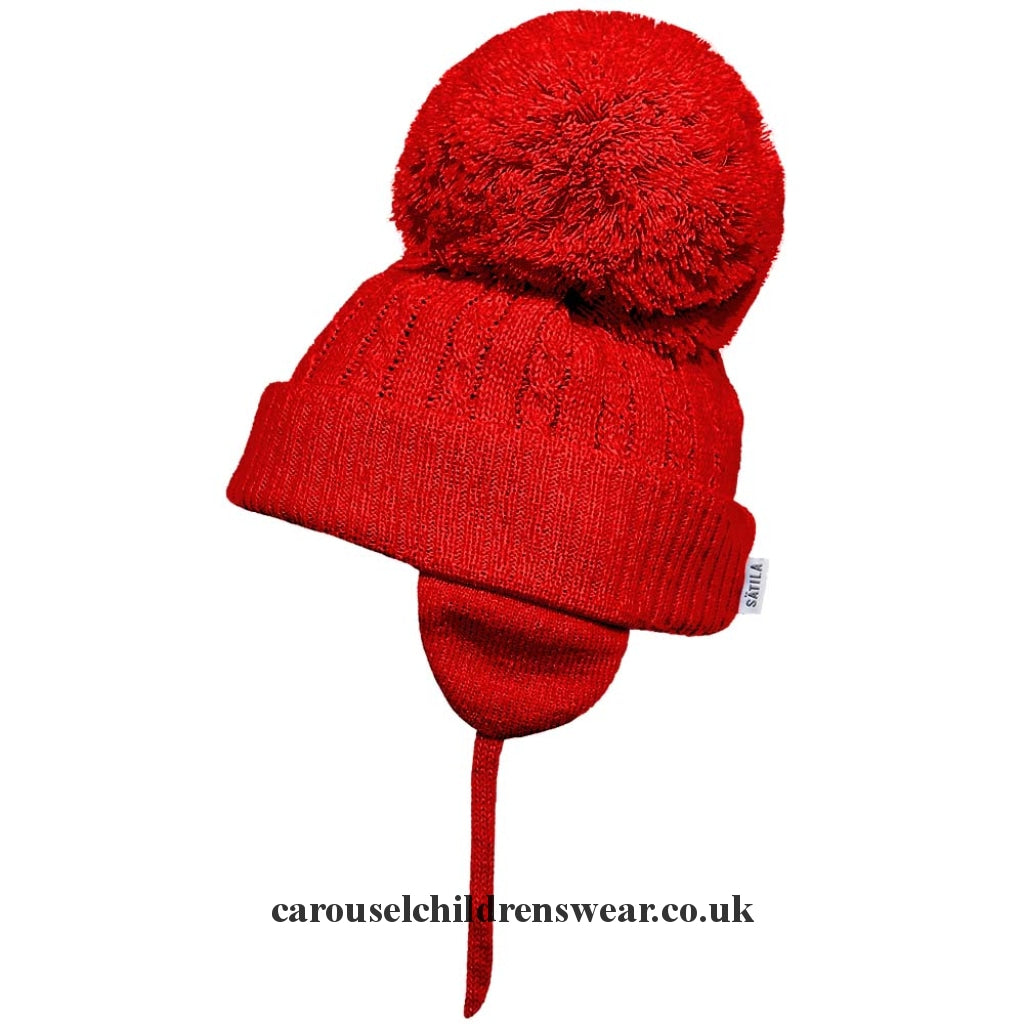 Satila Twine Red Pom Hat Accessories