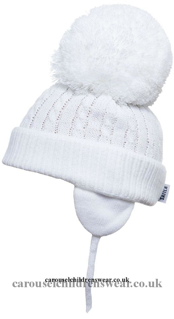 Satila Twine White Pom Hat Accessories