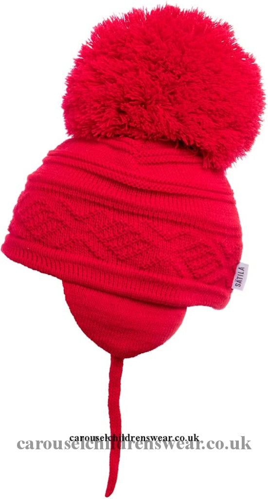 Satila Zelma Red Pom Hat Accessories