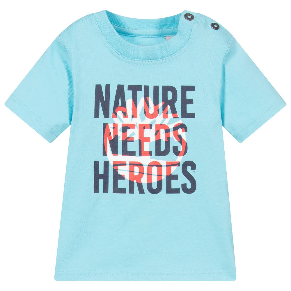Timberland TURQUOISE GRAPHIC PRINT T-SHIRT