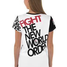 Load image into Gallery viewer, FIGHT THE NWO - All-Over Print Crop Tee
