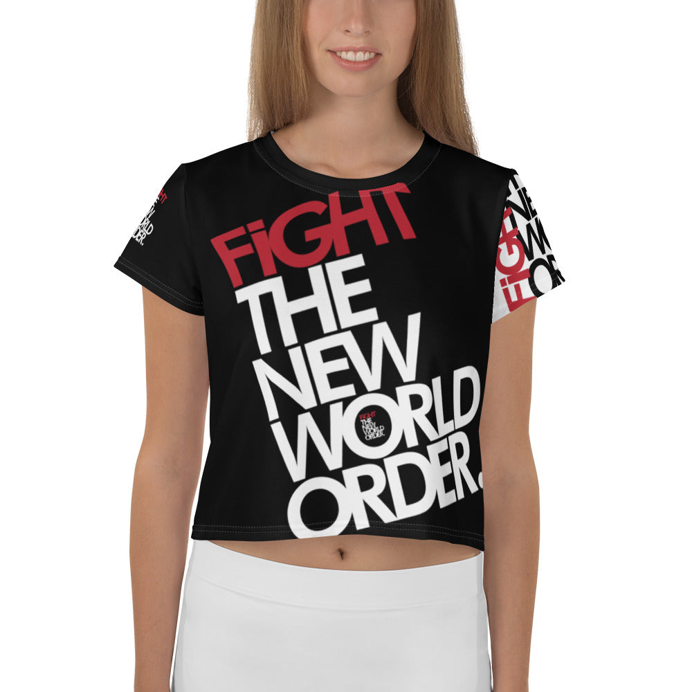 FIGHT THE NWO - All-Over Print Crop Tee