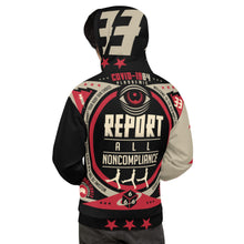 Load image into Gallery viewer, #1 - REPORT NONCOMPLIANCE // Unisex Hoodie // CV1984
