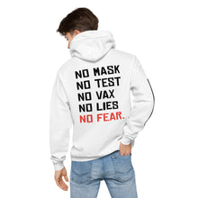 Load image into Gallery viewer, NO FEAR - Unisex fleece hoodie (White)