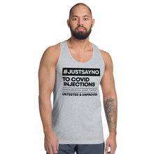Load image into Gallery viewer, #JUSTSAYNO - Classic Tank Unisex (white, grey)