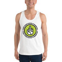 Load image into Gallery viewer, FUCK THE COVID-19 PASSPORT -- Classic Tank Unisex (white, grey)