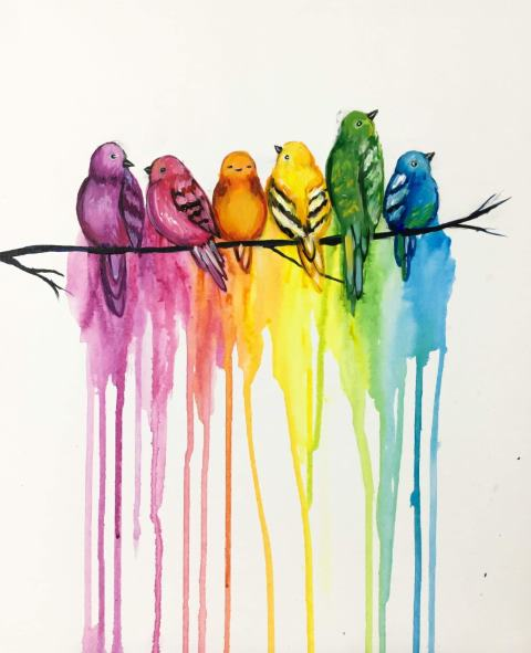 Tip Link - Rainbow Birds