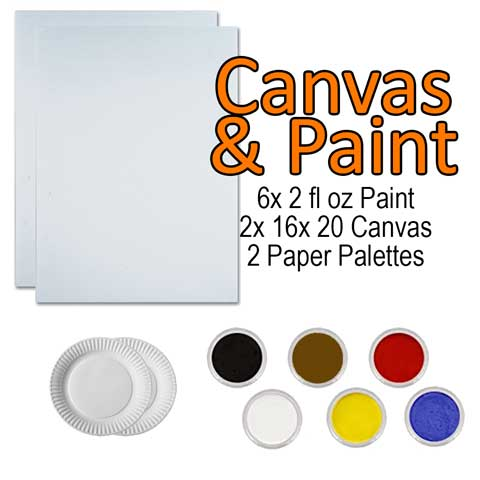 Canvas and Paint -  Kit