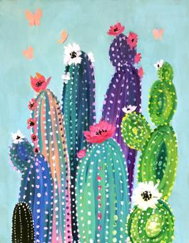 Virtual Tutorial - Colourful Cactus