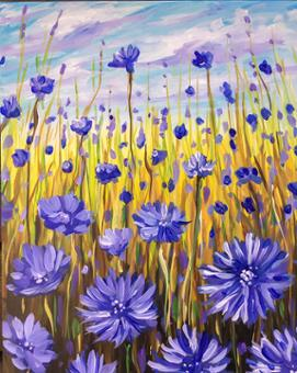 Virtual Tutorial - Cornflower Fields