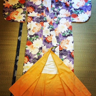 アンティーク着物 付け下げ? 袷 Antique Kimono  (Vintage - Used) AK-001 Type: Awase,  Made of Silk