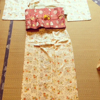 アンティーク 着物 小紋 袷 正絹 ANTIQUE KIMONO (VINTAGE - USED) AK-005 TYPE: AWASE, KOMON, MADE OF SILK