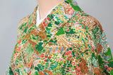 アンティーク着物 小紋 ANTIQUE KIMONO AK-011 (USED)  TYPE: KOMON, AWASE, GENUINE SILK