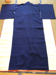 アンティーク 着物 色無地 正絹 ANTIQUE KIMONO (VINTAGE-USED) AK-022 TYPE: AWASE, IROMUJI, MADE OF SILK,