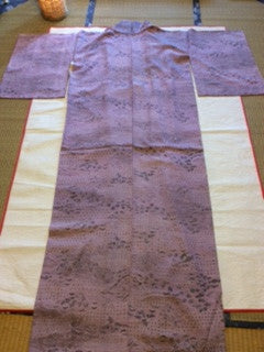 アンティーク 着物 小紋 袷 正絹 ANTIQUE KIMONO (VINTAGE - USED) AK-024 TYPE: AWASE, KOMON, MADE OF SILK