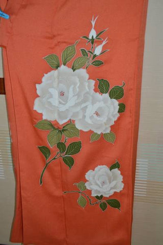 アンティーク 着物 AK-026 袷 正絹 ANTIQUE KIMONO (VINTAGE - USED) TYPE: AWASE,  MADE OF SILK