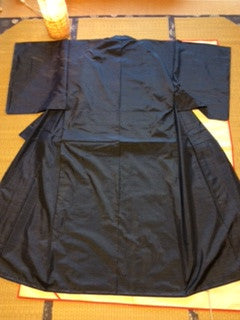 アンティーク 着物 紬 袷 正絹 ANTIQUE KIMONO (VINTAGE - USED) AK-024 TYPE: AWASE, TSUMUGI,  MADE OF SILK