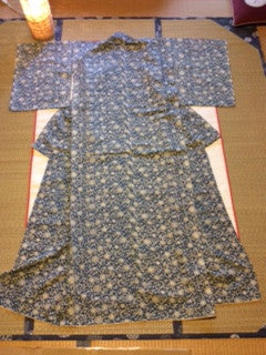 アンティーク 着物 小紋 袷 正絹 ANTIQUE KIMONO (VINTAGE - USED) AK-030 TYPE: AWASE, KOMON, MADE OF SILK