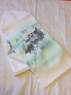 アンティーク 名古屋帯 塩瀬 ANTIQUE OBI (VINTAGE - USED) AO-040 TYPE: NAGOYA-OBI, MADE OF SILK