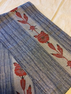 アンティーク 袋帯 紬 ANTIQUE OBI (VINTAGE-USED) 大正浪漫 AO-041 TYPE: FUKURO-OBI, TSUMUBI/ MADE OF SILK