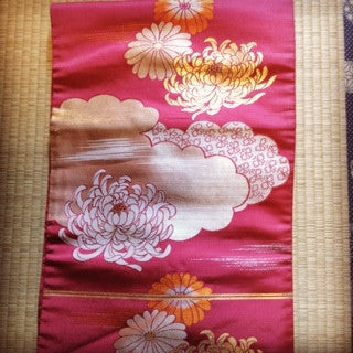 アンティーク 名古屋帯 Antique Obi  (Vintage - Used) AO-001 Type: Nagoya-obi, Made of Silk